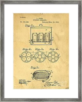 Original Patent For Canning Jars Framed Print