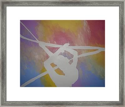 Original Rhythmic Gymnast 5 Framed Print by H George Vandeveer