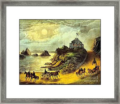 Original San Francisco Cliff House Circa 1865 Framed Print