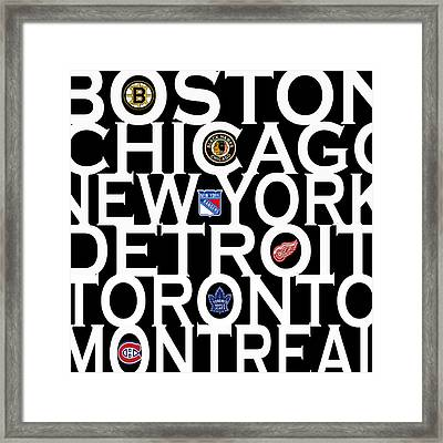 Original Six Framed Print