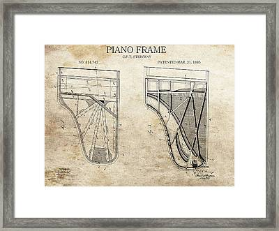 Original Steinway Piano Frame Patent Framed Print by Dan Sproul