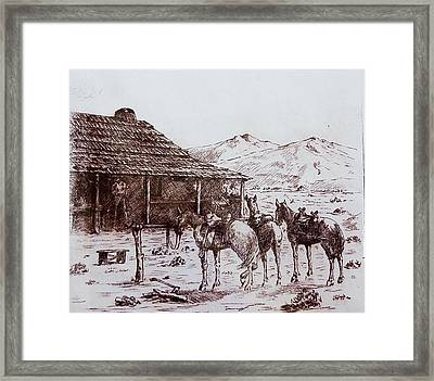 Original Western Artwork 5 Framed Print by Smart Healthy Life