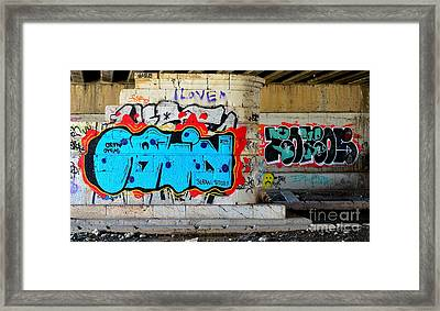 Orin        ' Graffiti ' Framed Print by Urban Artful