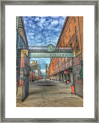 Oriole Park At Camden Yards - Eutaw Street Gate Framed Print by Marianna Mills