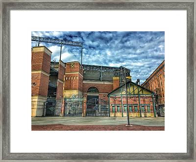 Oriole Park At Camden Yards Gate Framed Print by Marianna Mills