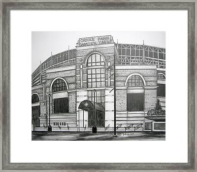 Oriole Park Camden Yards Framed Print by Juliana Dube