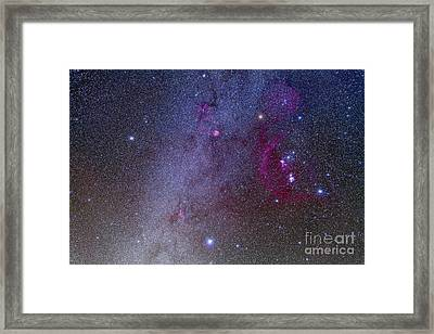 Orion And Canis Major Showing Dog Stars Framed Print