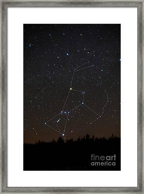 Orion Constellation Framed Print by Larry Landolfi
