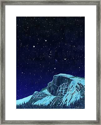 Orion Over Yosemite Framed Print