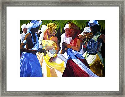 Orixas Dance Framed Print by Marcus Wang