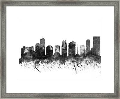 Orlando Florida Cityscape 02bw Framed Print by Aged Pixel