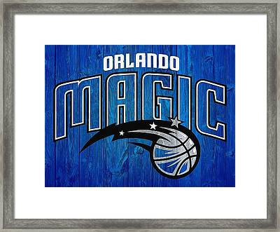 Orlando Magic Graphic Barn Door Framed Print by Dan Sproul