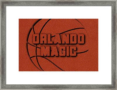 Orlando Magic Leather Art Framed Print