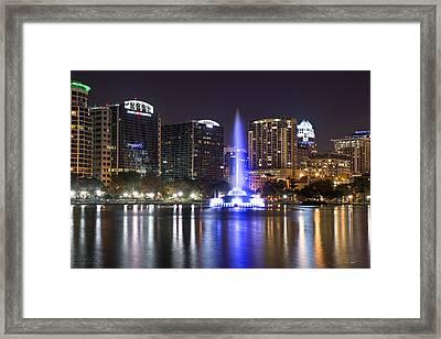 Orlando Skyline Framed Print