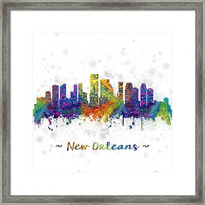 Orleans Louisiana Color 03sq Framed Print by Aged Pixel