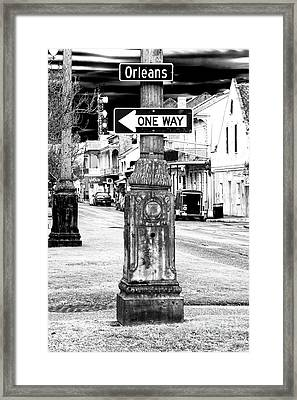 Orleans Street One Way Framed Print