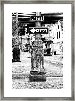 Orleans Street One Way Framed Print