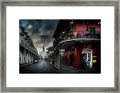 Orleans Street To St Louis Cathedral Framed Print