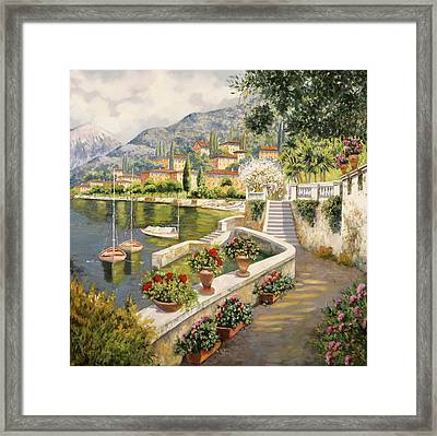 ormeggio a Bellagio Framed Print by Guido Borelli