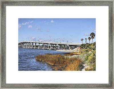 Ormond Beach Bridge Framed Print by Deborah Benoit