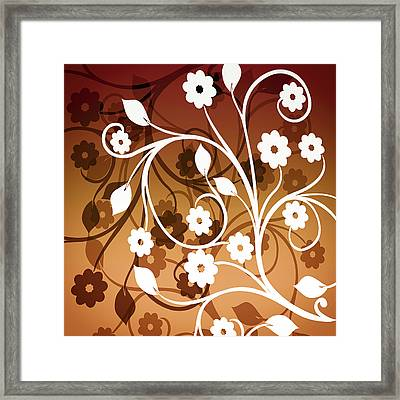 Framed Print featuring the digital art Ornamental 2 Warm by Angelina Vick