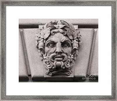 Ornamental Carved Stone Face - Washington Dc Framed Print