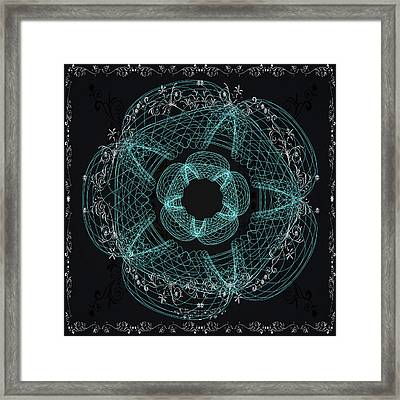 Ornamental Geometry Framed Print by Georgiana Romanovna