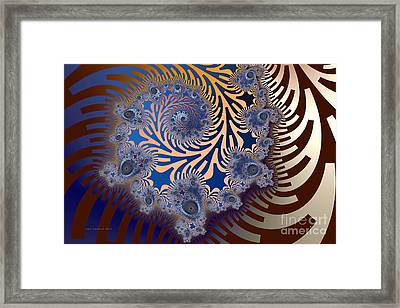Framed Print featuring the digital art Ornamental by Karin Kuhlmann