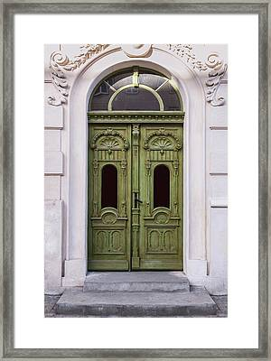 Ornamented Gates In Olive Colors Framed Print