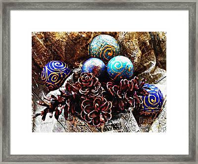 Ornaments 6 Framed Print by Sarah Loft
