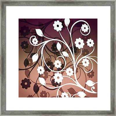 Ornametal 2 Purple Framed Print