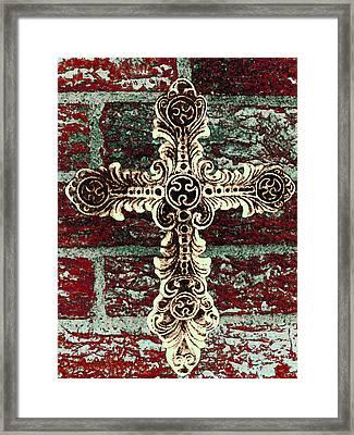 Ornate Cross 1 Framed Print by Angelina Vick