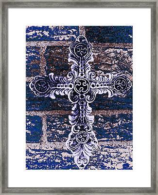 Ornate Cross 2 Framed Print by Angelina Vick