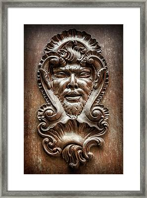 Ornate Door Knocker In Valencia  Framed Print by Carol Japp