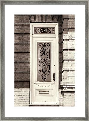 Ornate Glass Panel Framed Print