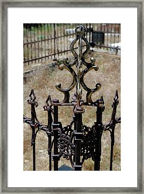 Ornate Iron Works Virginia City Nv Framed Print by LeeAnn McLaneGoetz McLaneGoetzStudioLLCcom