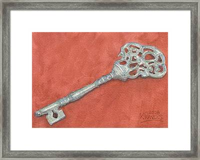 Ornate Mansion Key Framed Print by Ken Powers