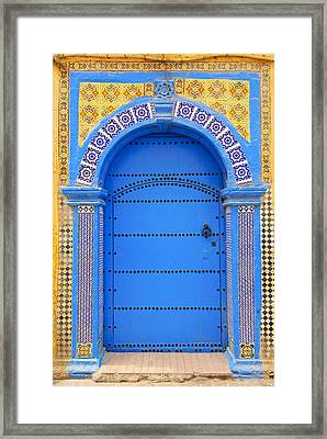 Ornate Moroccan Doorway, Essaouira, Morocco, Middle East, North Africa, Africa Framed Print by Andrea Thompson Photography