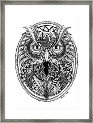 Ornate Owl Framed Print