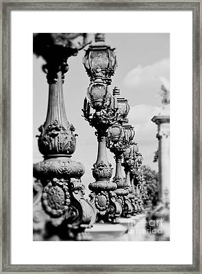 Ornate Paris Street Lamp Framed Print