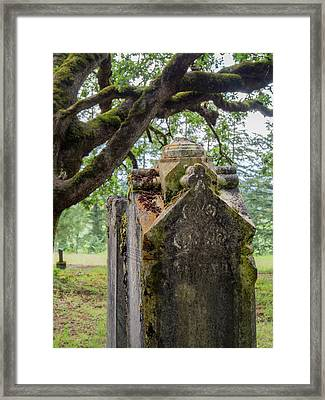 Ornate Resting Place Framed Print by Jean Noren