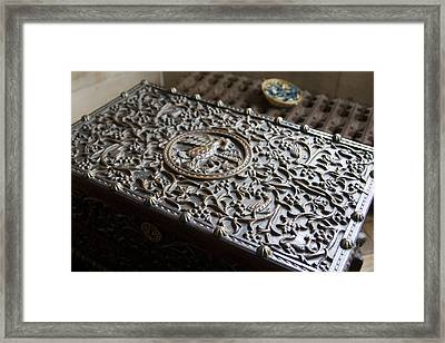 Ornate Wooden Chest Framed Print by Carl Purcell