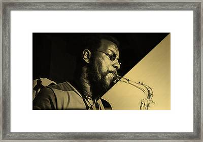 Ornette Coleman Collection Framed Print by Marvin Blaine