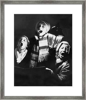 Orphans Sing Christmas Carols Framed Print