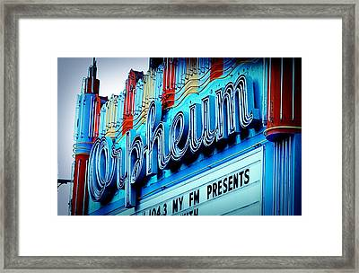 Orpheum Theater Framed Print by Ariane Moshayedi