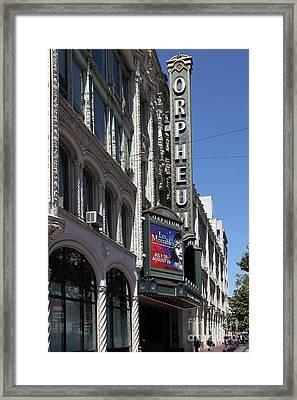 Orpheum Theatre San Francisco California 5d17997 Framed Print