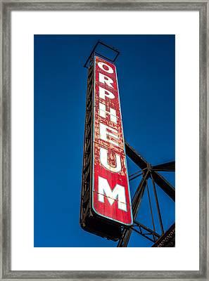Orpheum Vertical Framed Print by Todd Klassy