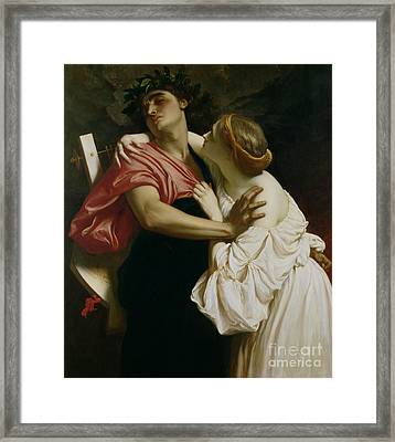 Orpheus And Euridyce Framed Print