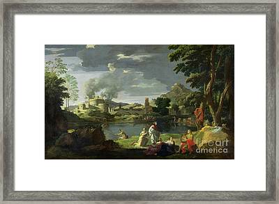 Orpheus And Eurydice Framed Print by Nicolas Poussin