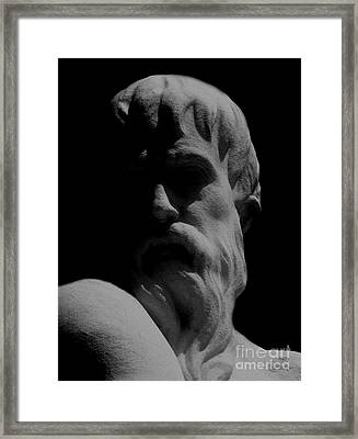 Orpheus Looks Back Framed Print by RC DeWinter